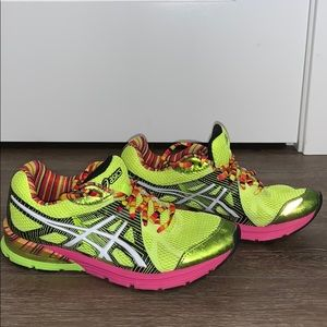 ASICS Athletic Shoes Neon Green/Pink 8.5